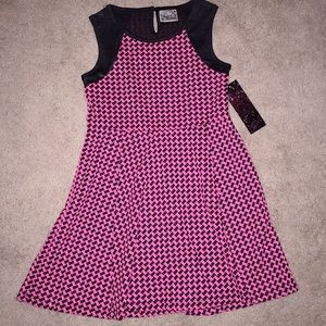 Other - Pink & Black Houndstooth Check Dress